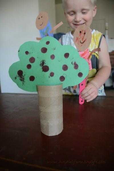 Adam and Eve - Play Through The Bible - Toddler Bible Lessons - www.simplelifemessylife.com