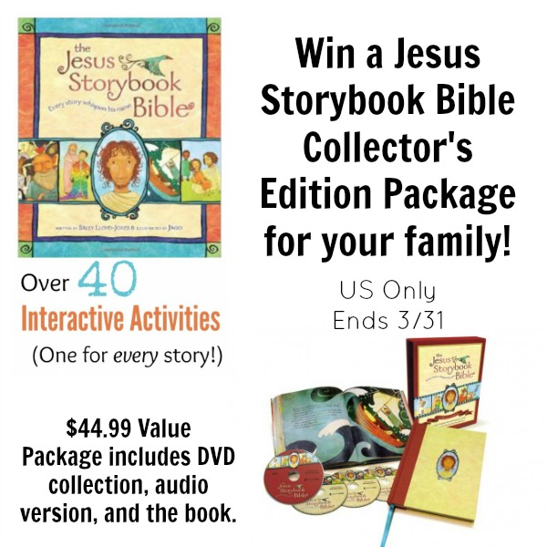 Jesus Storybook Bible Collector's Edition Giveaway