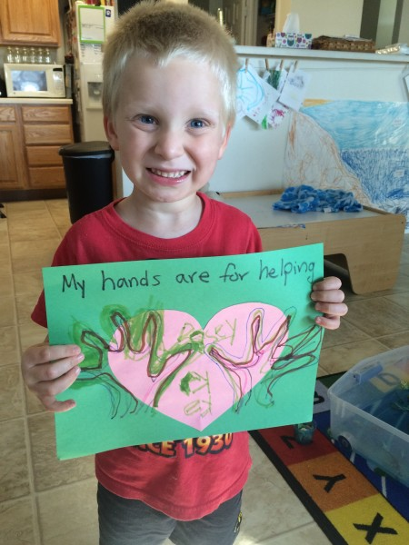 Helping Hands Craft -- Hero Training: Kid's Character Challenge www.simplelifemessylife.com