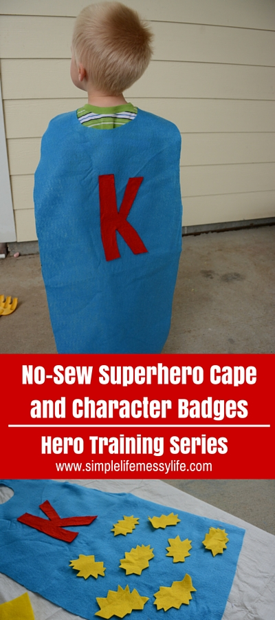 No-Sew Superhero Cape and Character Badges