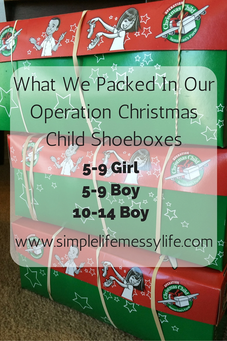 what we packed in our operation christmas child shoeboxes - Operation Christmas Child Shoeboxes