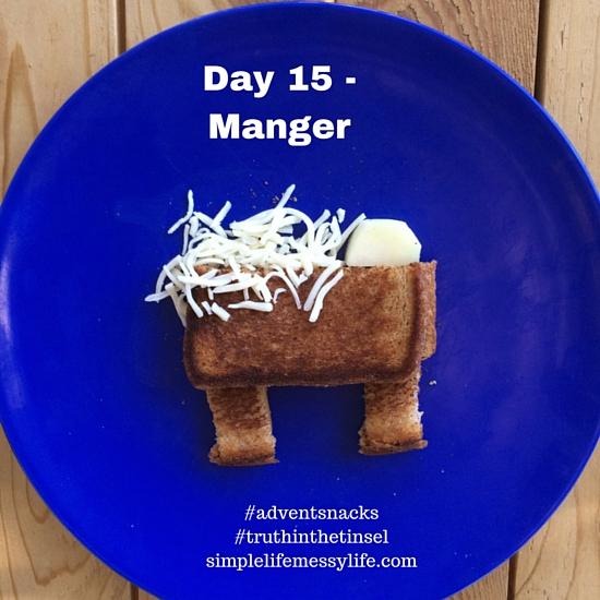 Advent Snacks day 15 - manger