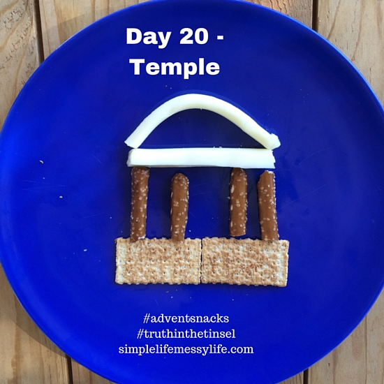 Advent snacks day 20 - temple