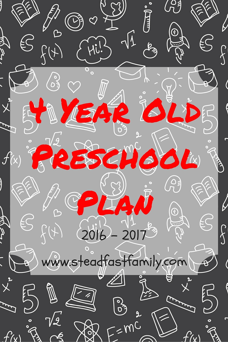 Four Year Old Preschool Plan