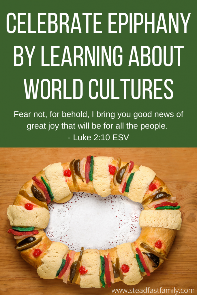 "image saying ""celebrate epiphany by learning about world cultures"""